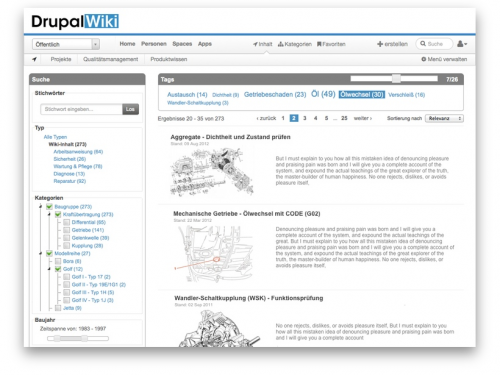 Drupal Wiki Screenshot