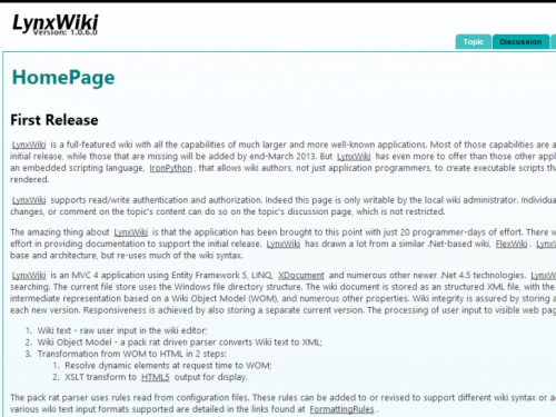 LynxWiki Screenshot